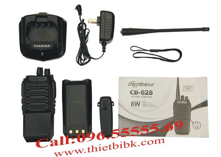 Bộ đàm Chierda CD-628 8W Long Range sử dụng pin 3600mAh đàm thoại 16 giờ