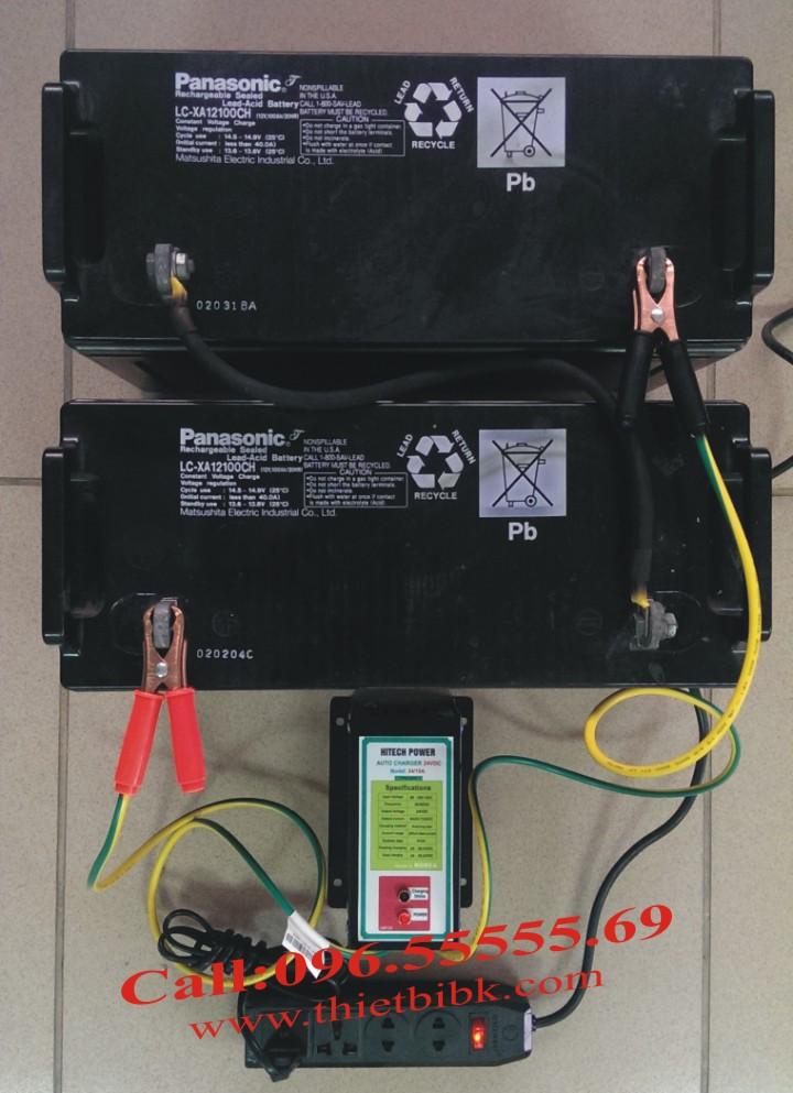 Bộ sạc acquy tự động Hitech Power 24V-10Ah sac acquy từ 40Ah đến 100Ah