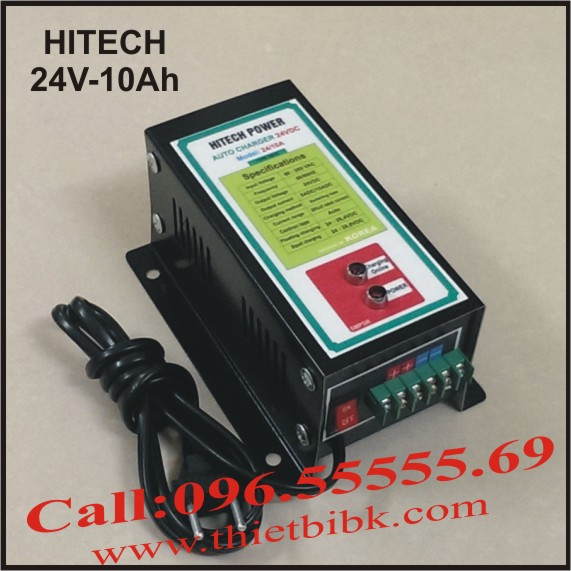 Bộ sạc acquy tự động Hitech Power 24V-10Ah