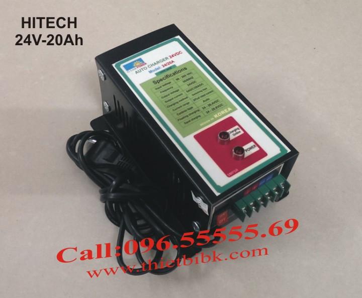 Bộ sạc acquy tự động Hitech Power 24V-20Ah sạc 24/24/7 cho tổ acquy máy phát điện
