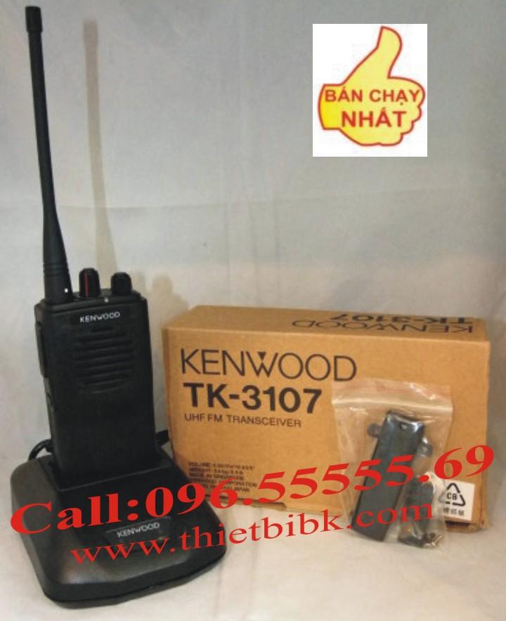 Máy bộ đàm KENWOOD TK-3107 dùng cho nhà hàng, khách sạn, công trường xây dựng, bảo vệ....