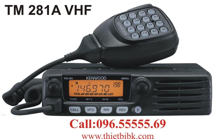 Bộ đàm Kenwood TM 281A VHF gắn trên xe Taxi đảm bảo chất lượng, hoạt động 24/24/7