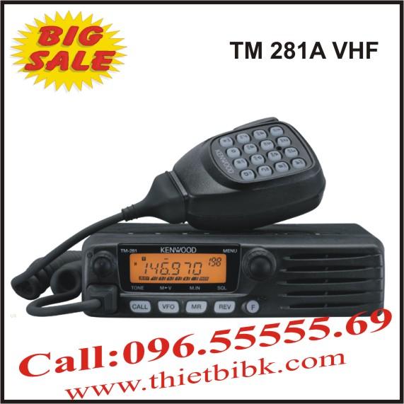 Bộ đàm dùng cho taxi Kenwood TM-281A VHF