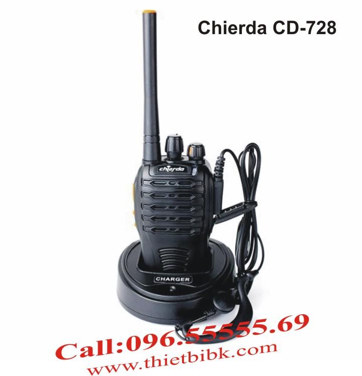 Máy bộ đàm chống nước Chierda CD-728 8W dùng cho công trường