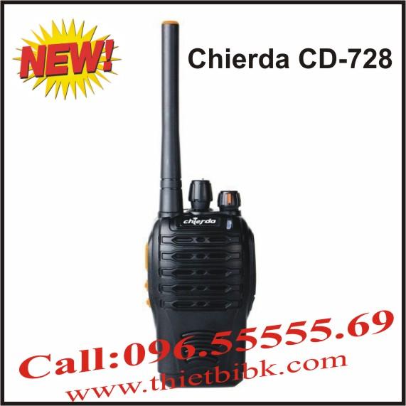 Máy bộ đàm chống nước Chierda CD-728 8W