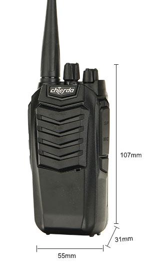 Kích thước máy bộ đàm Chierda CD-K18 VHF