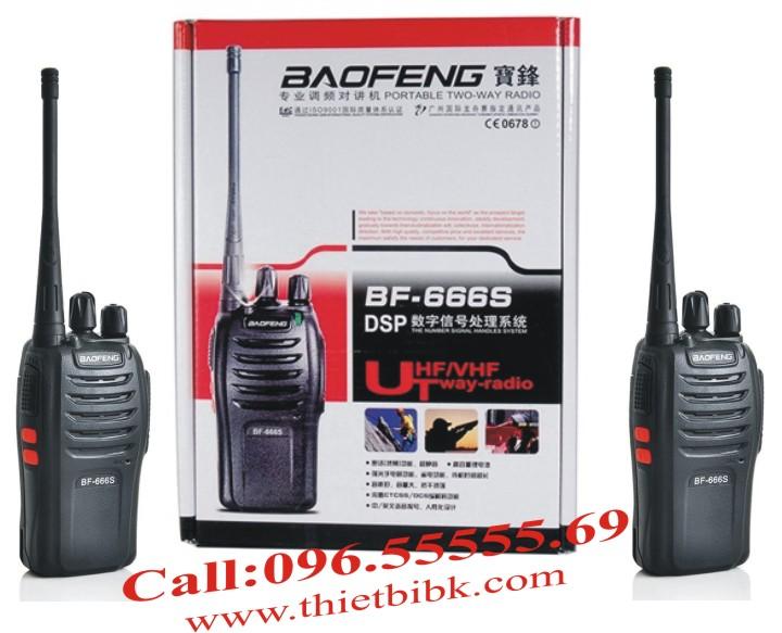 máy bộ đàm Baofeng BF-666s chính hãng, độ tin cậy cao