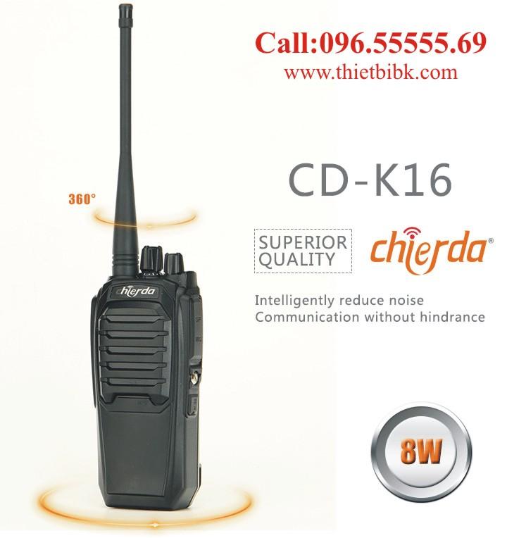 Máy bộ đàm Chierda CD-K16 công suất 8W dùng cho công trường