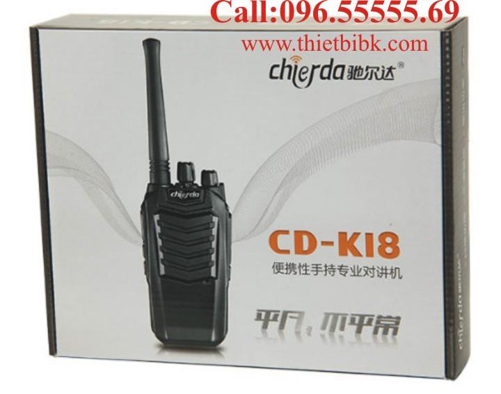 Máy bộ đàm Chierda CD-K18 VHF dùng cho khách sạn