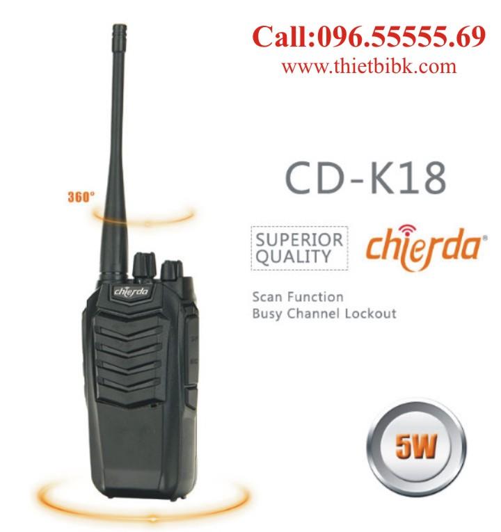 Máy bộ đàm Chierda CD-K18 VHF dùng cho khu du lịch