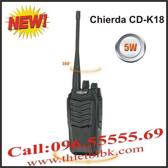 Máy bộ đàm Chierda CD-K18 VHF