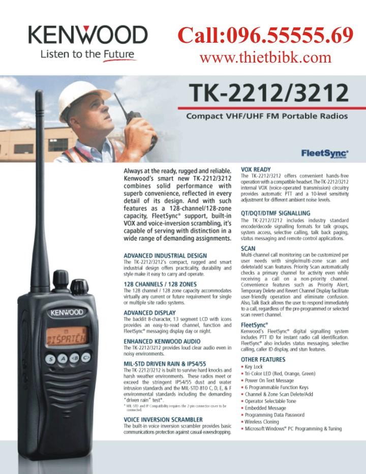 Máy bộ đàm Kenwood TK-2212 VHF liên lạc điều hành sản xuất
