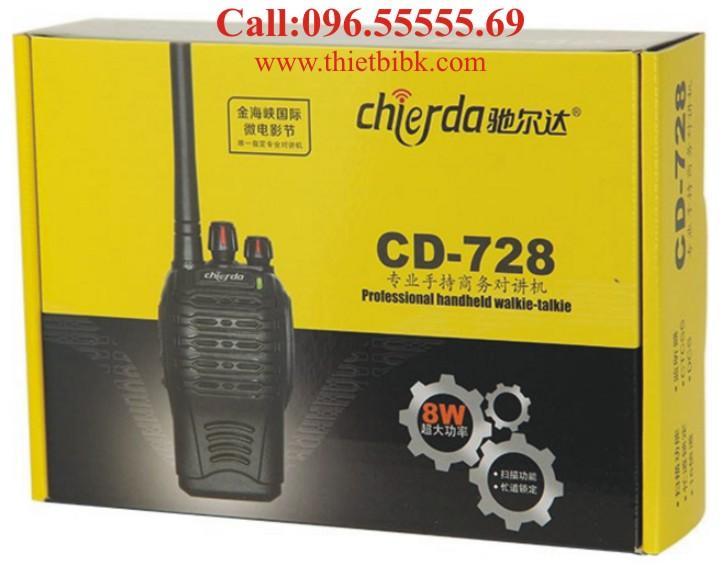 Máy bộ đàm chống nước Chierda CD-728 8W dùng cho xây dựng