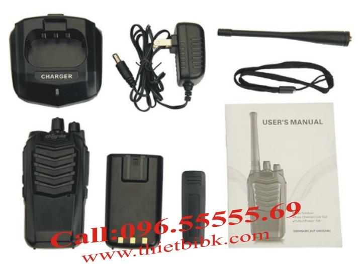 Máy bộ đàm Chierda CD-K18 VHF với phụ kiện đi kèm
