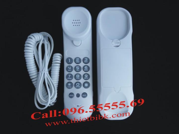 Điện thoại treo tường Uniden AS 7101 màu trắng, lắp cửa thang máy