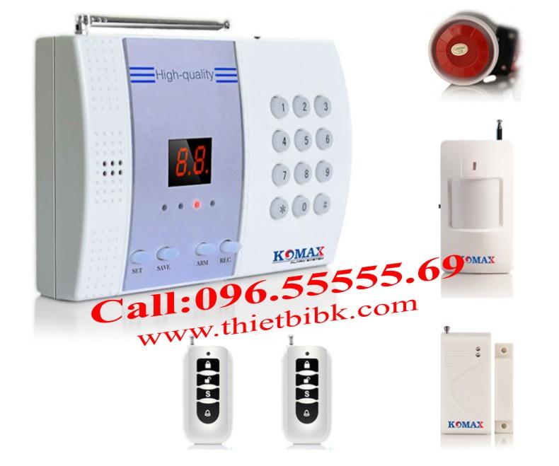 Thiết bị báo động chống trộm, báo cháy KOMAX KM-800P