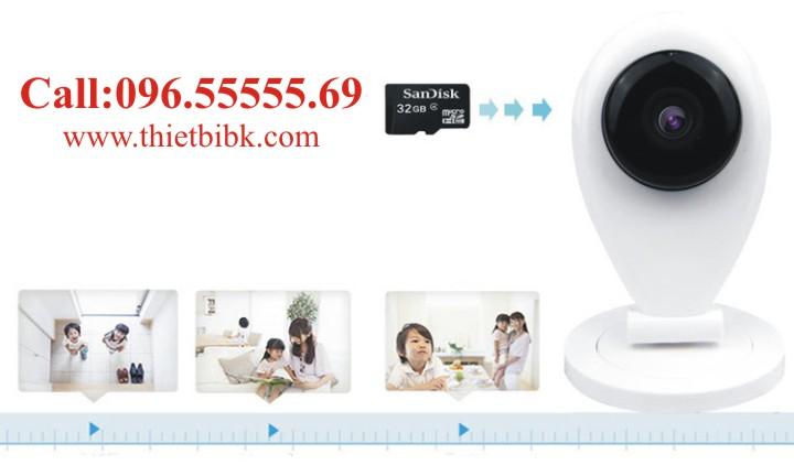 Camera IP không dây Wanscam Wifi HD96G6 dùng thẻ nhớ 32 GB lưu trữ 1 tuần