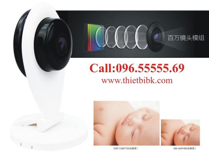 Camera IP không dây Wanscam Wifi HD96G6 với ống kinh nhiều lớp cho hình ảnh trung thực