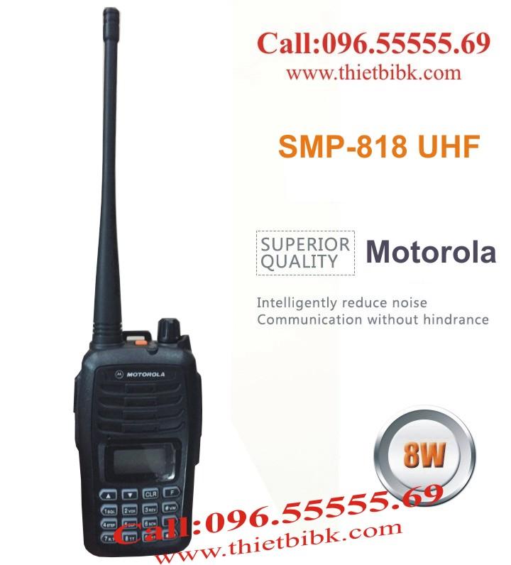 Máy bộ đàm Motorola SMP-818 8W dùng cho các công trường xây dựng