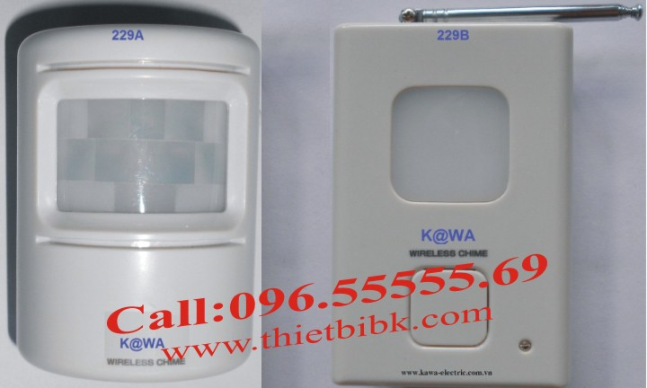 Chuông báo khách cảm ứng Kawa I229 dùng cho cửa hàng