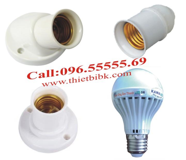 Đèn led cảm ứng âm thanh Kawa SB05 5W lắp đặt với đui soáy E27