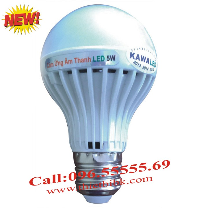 Đèn led cảm ứng âm thanh Kawa SB05 5W