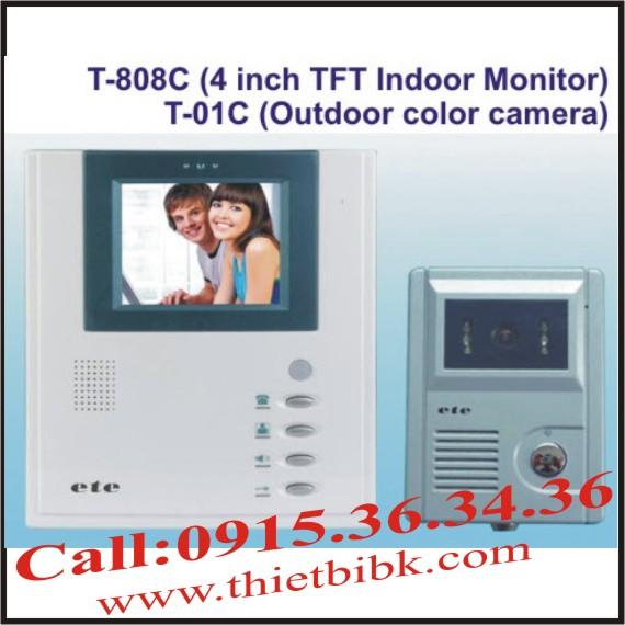 Chuông cửa hình màu có dây ETE T-808C