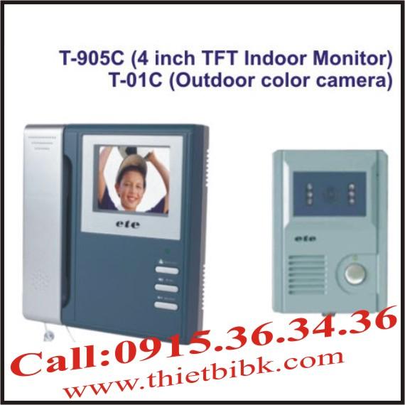 Chuông cửa hình màu có dây ETE T-905C