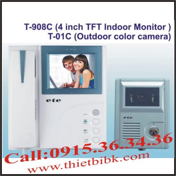 Chuông cửa hình màu có dây ETE T-908C