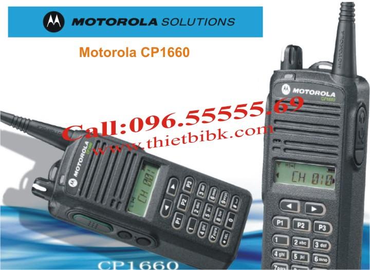 Máy bộ đàm Motorola CP1660 99 kênh có màn hình hiển thị đa chức năng