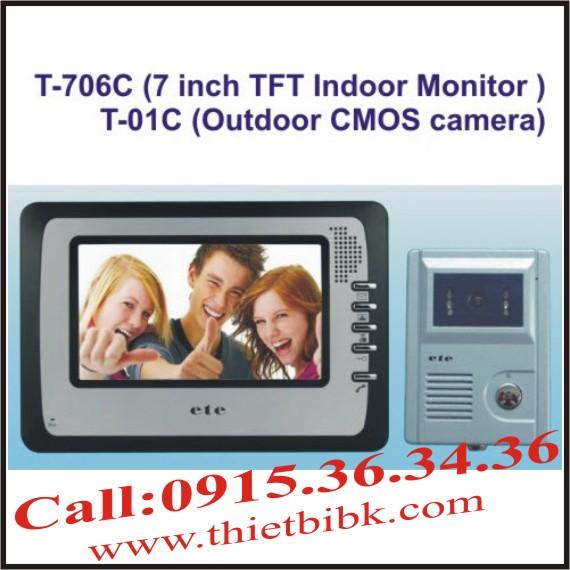 CHUÔNG CỬA HÌNH VIDEO DOOR PHONE ETE T-706C