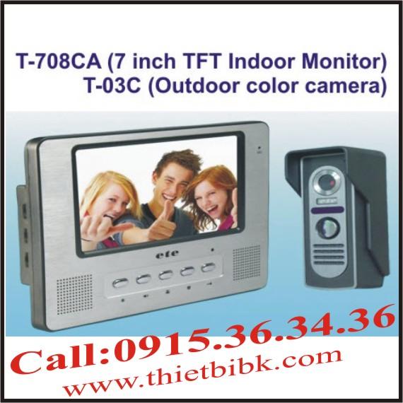 CHUÔNG CỬA HÌNH VIDEO DOOR PHONE ETE T-708CA
