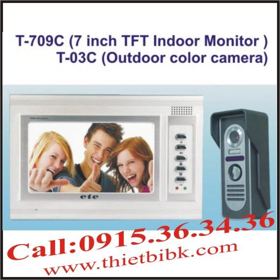 CHUÔNG CỬA HÌNH VIDEO DOOR PHONE ETE T-709C