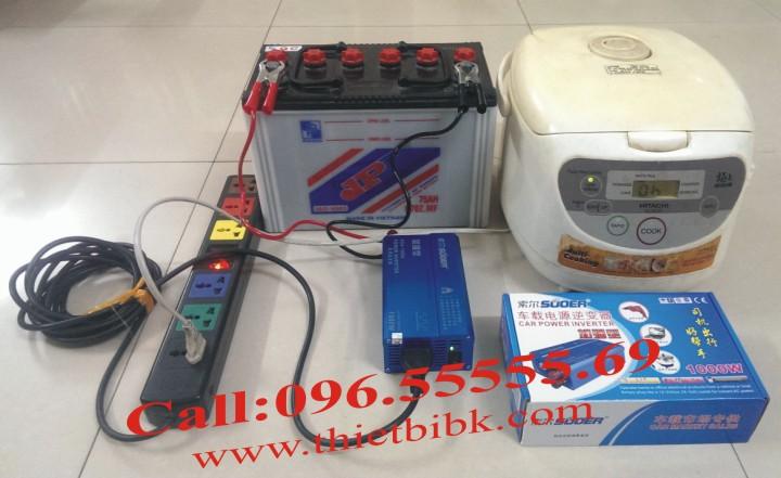 Máy đổi điện không sạc SUOER KDA 1000W dùng cho gia đình