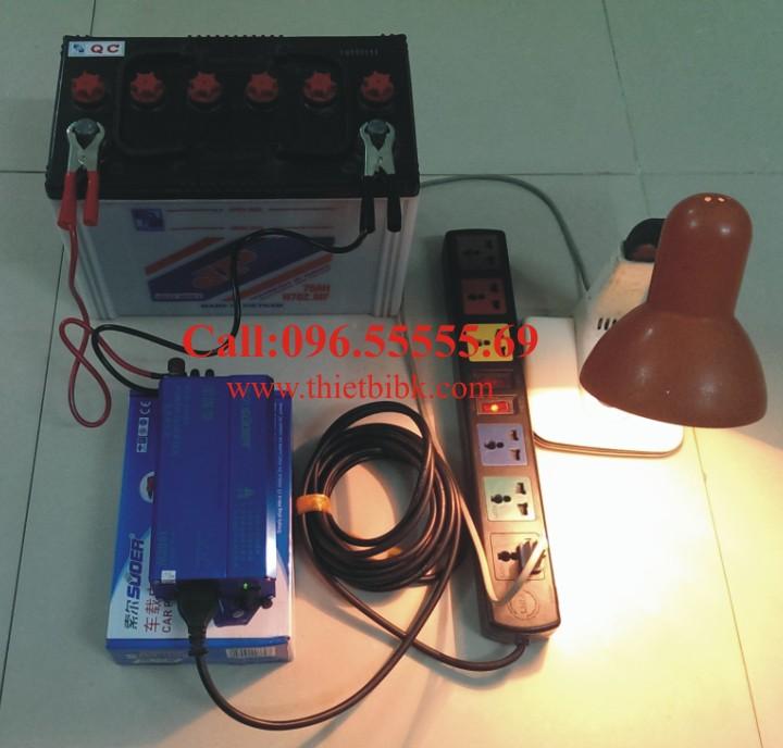 Máy đổi điện không sạc SUOER KDA 1000W chuyển đổi điện từ 12VDC sang 220VAC
