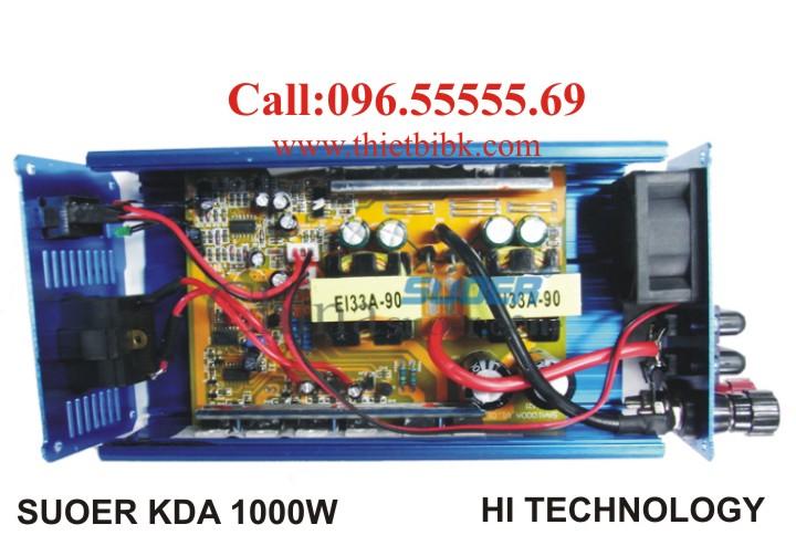 Máy đổi điện không sạc SUOER KDA 1000W sử dụng công nghệ nguồn xung