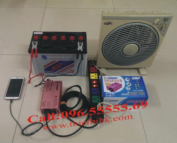 áy kích điện SUOER KFA 1000W Power inverter dùng cho gia đình, cửa hàng
