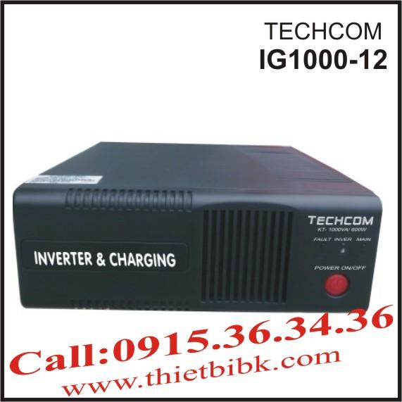 Máy đổi điện và sạc ắc quy TECHCOM IG1000-12