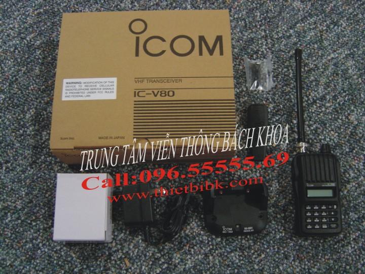 Bộ đàm iCOM IC-V80 VHF UHF dùng cho khu du lịch sinh thái