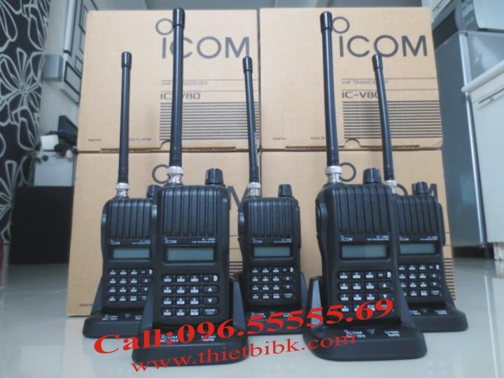 Bộ đàm iCOM IC-V80 VHF UHF dùng cho khu công nghiệp, chu chế xuất