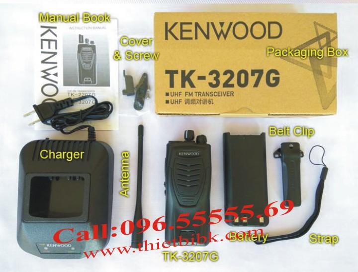 Bộ đàm KENWOOD TK-3207G dùng cho bảo vệ tòa nhà cao tầng