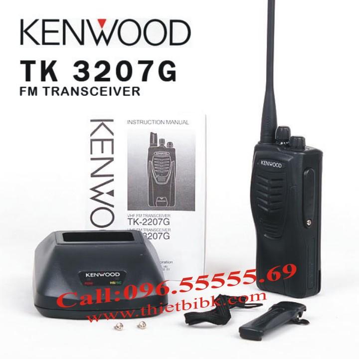 Bộ đàm KENWOOD TK-3207G dùng cho khu công nghiệp, điều hành sản xuất