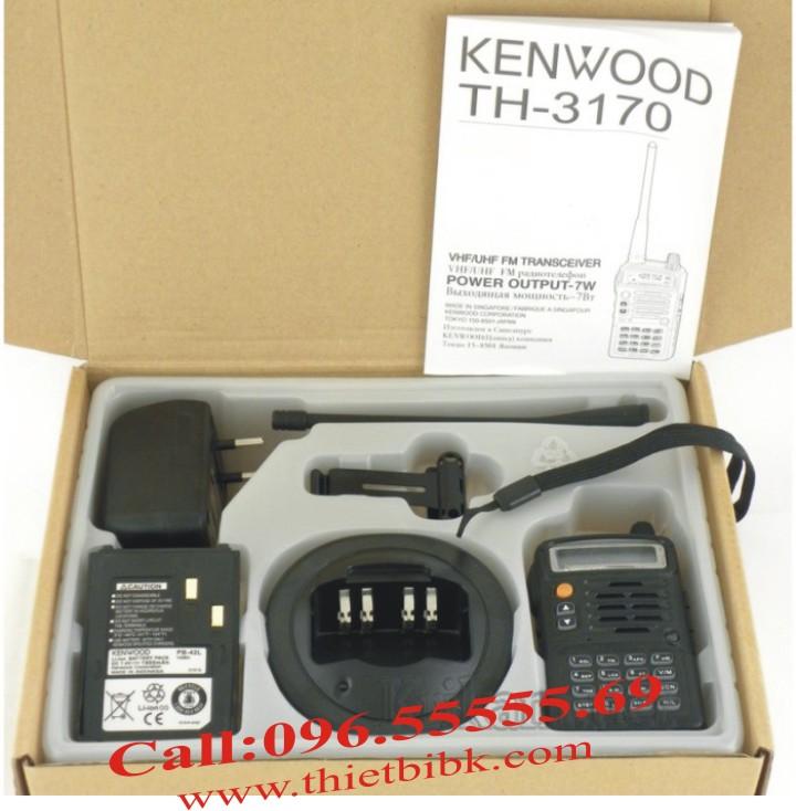 Bộ đàm Kenwood TH-3170 UHF dùng cho khu công nghiệp, sân bay, cảng biển