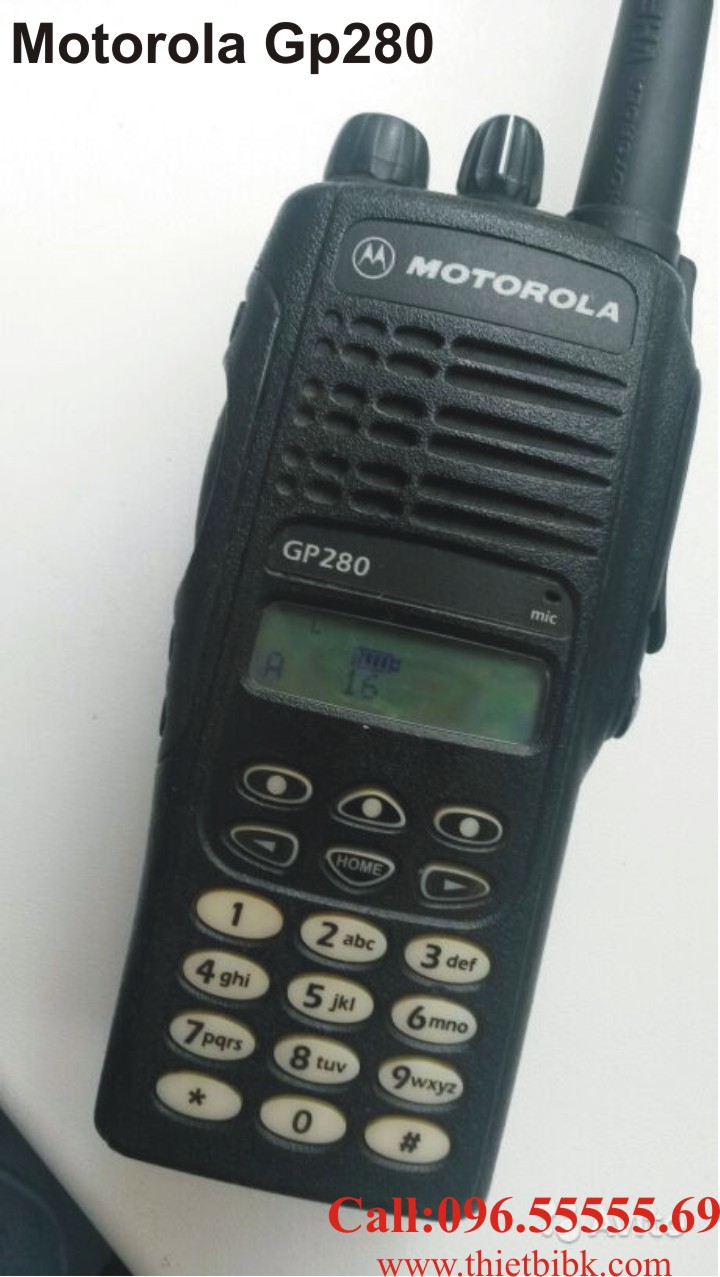 Bộ đàm Motorola GP280 tính năng tương đương Bộ đàm Motorola GP338