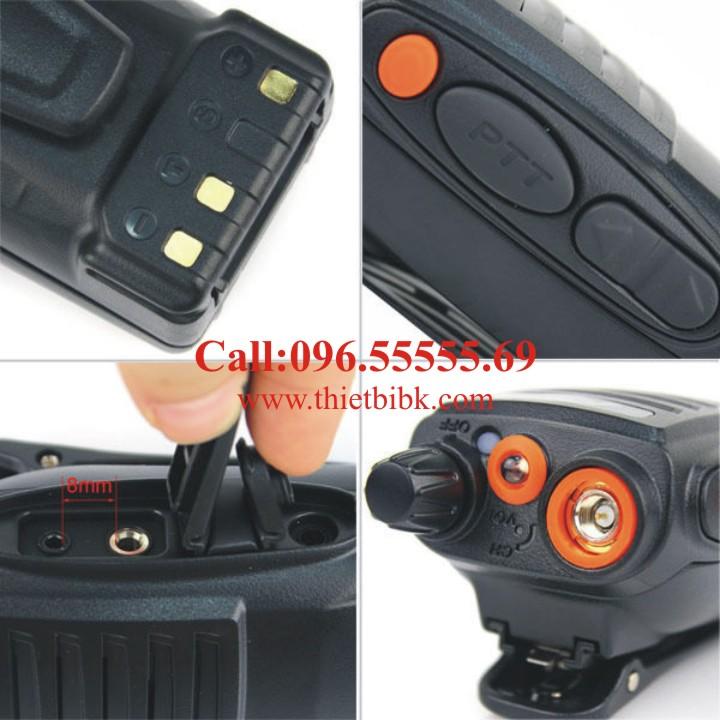 Bộ đàm cầm tay FEIDAXIN FD-850Plus – 10W thiết kế chống bụi, chống nước (dùng dưới trời mưa)