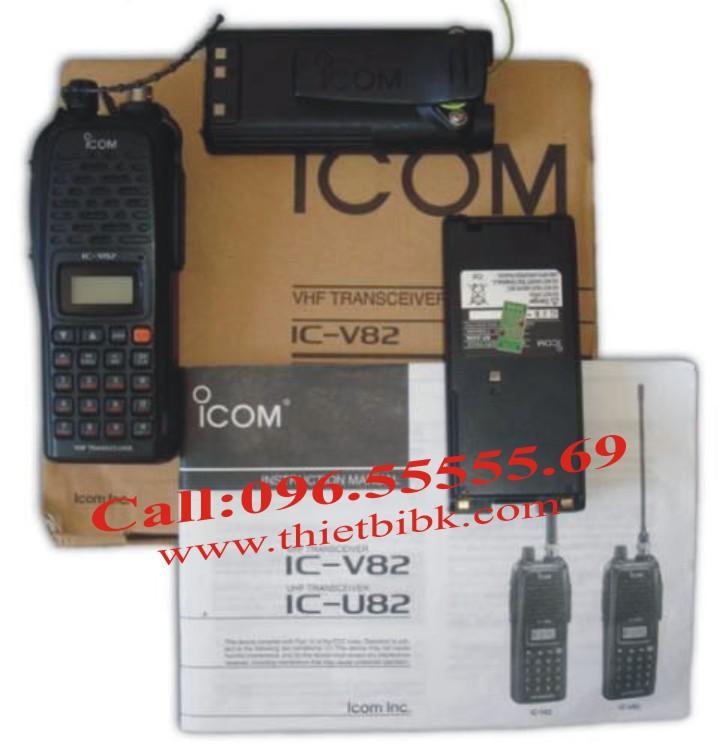 Bộ đàm iCOM IC-V82 VHF dùng cho sân bay, cảng biển
