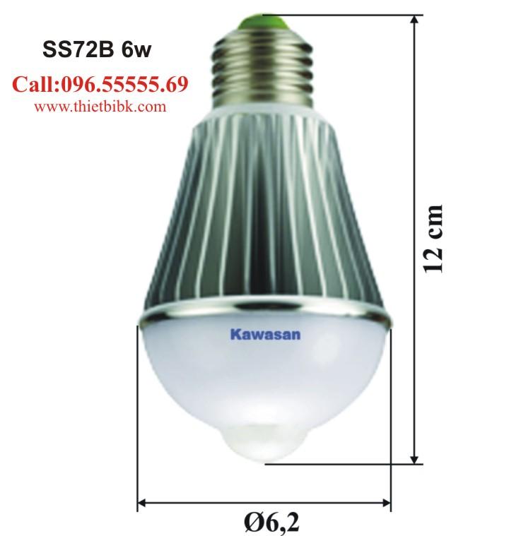 Đèn Led cảm ứng chuyển động Kawa SS72B 6w lắp trên lối đi