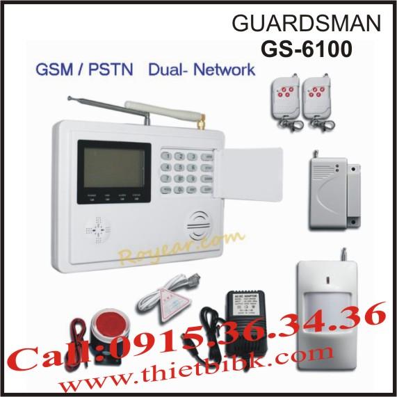Thiết bị báo động không dây dùng SIM và dùng line Guardsman GS-6100