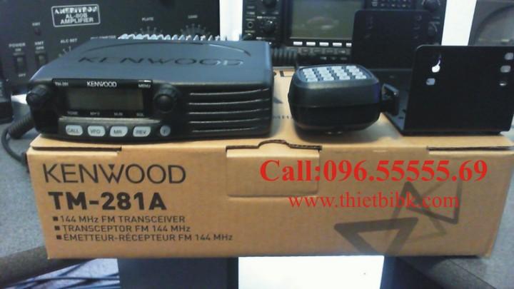 Bộ đàm Kenwood TM 281A VHF gắn trên xe Taxi