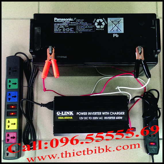 Bộ kích điện và sạc ắc quy tự động G-LINK HDA-850VA 600W